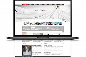 大气婚纱摄影礼仪dedecms模板 婚庆公司影楼网站建设源码,测试完整无bug
