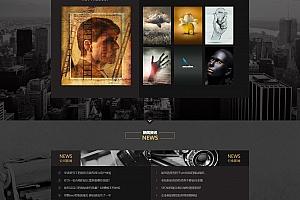 黑色摄影PS设计网站织梦dede模板源码下载[带手机版数据同步]