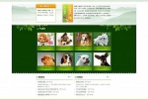 绿色宠物机构网站织梦dede模板源码下载[带手机版数据同步]
